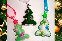 Бисерные украшения для оформления подарков на Новый год